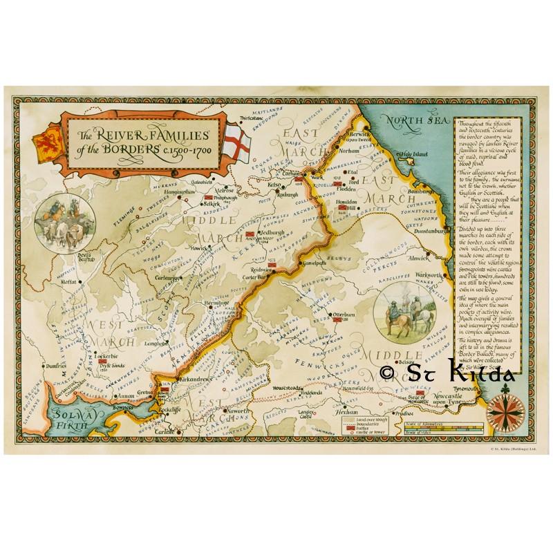 Map Of Australia 1700.Reiver Map Of The Borders St Kilda Australia