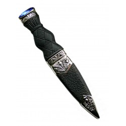 Plain Handled Sgian Dubh With Stone Top