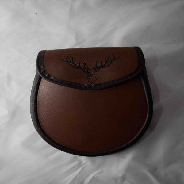 Brown Leather Stag